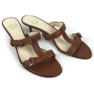 Circa Joan & David T-Strap Sandals Kitten Heel